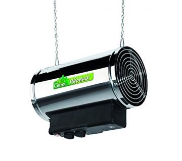 Bio Green Elektrogebläseheizung Phoenix, silber/schwarz - IP X4 Spritzwassergeschützt für Gewächshäuser - 4
