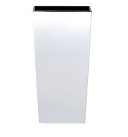 Blumentopf Übertopf Coubi Prosperplast Urbi Square 49lt hoch mit Einsatz breit 32cm Farbe: weiß - 1