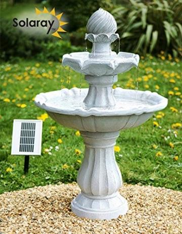 Brunnen und Mehr Großes Solar-Vogelbad - 6