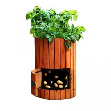 Brunnen und Mehr Qualitativ hochwertiger Kartoffelpflanzer aus Holz - 1