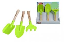Eichhorn 100004575 - Gartenwerkzeug, 3-tlg; enthält Spaten, Sandschaufel, Rechen, FSC 100% Zertifiziertes Birkenholz - 1
