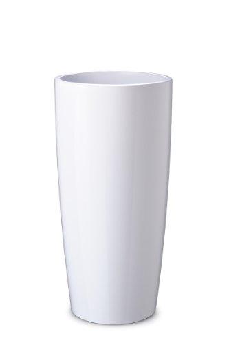 """Floralo 4702 """"Teramo"""" Übertopf rund 35 x H90 cm, weiß  hochglänzend - 1"""