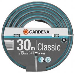 """GARDENA Classic Schlauch 13 mm (1/2""""), 30 m: Universeller Gartenschlauch aus robustem Kreuzgewebe, 22 bar Berstdruck, druck- und UV-beständig (18009-20) - 1"""
