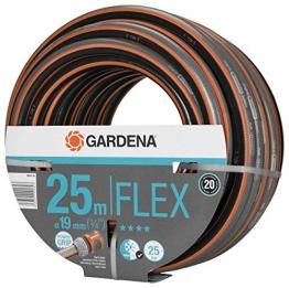 """GARDENA Comfort FLEX Schlauch 19 mm (3/4""""), 25 m: Formstabiler, flexibler Gartenschlauch mit Power-Grip-Profil, aus hochwertigem Spiralgewebe, 25 bar Berstdruck, ohne Systemteile (18053-20) - 1"""
