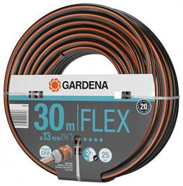 Gardena Comfort Flex Schlauch Formstabiler, Flexibler Gartenschlauch mit Power-Grip-Profil, Spiralgewebe, 25 bar Berstdruck, ohne Systemteile, 13 mm, 1/2 Zoll, 30 m - 1