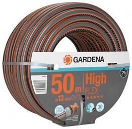 """GARDENA Comfort HighFLEX Schlauch 13mm (1/2""""), 50 m: Gartenschlauch mit Power-Grip-Profil, 30 bar Berstdruck, formstabil, UV-beständig, verpackt (18069-20) - 1"""