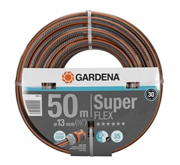 """GARDENA Premium SuperFLEX Schlauch 13mm (1/2""""), 50 m: Gartenschlauch mit Power-Grip-Profil, 35 bar Berstdruck, hochflexibel, formstabil, UV-beständig (18099-20) - 1"""