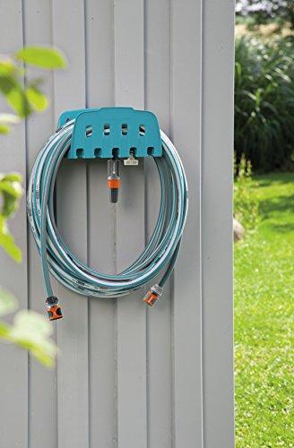 GARDENA Wandschlauchhalter mit Schlauch: Set mit 20 m Schlauch, Spritze und Halterung, Schlauch ist druckresistent und formstabil, mit allen GARDENA Geräten kombinierbar (18005-20) - 2