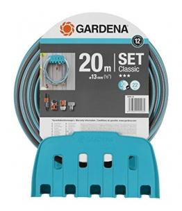 GARDENA Wandschlauchhalter mit Schlauch: Set mit 20 m Schlauch, Spritze und Halterung, Schlauch ist druckresistent und formstabil, mit allen GARDENA Geräten kombinierbar (18005-20) - 1
