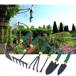 Gartengeräte Set,Hakkin,Garten Werkzeug Gartenpflege Gartenschaufel Pflanzen Blumen Hacke Rechen Gärtnerspaten Gartenwerkzeug Set - 1