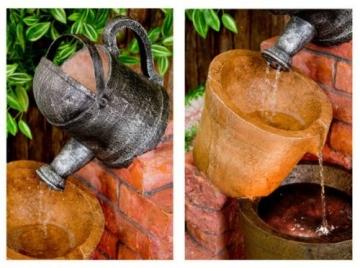 Gießkannen-Brunnen mit Halogenbeleuchtung - 2
