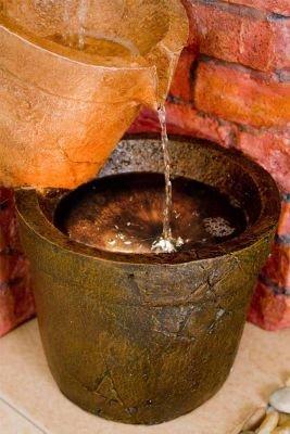 Gießkannen-Brunnen mit Halogenbeleuchtung - 3