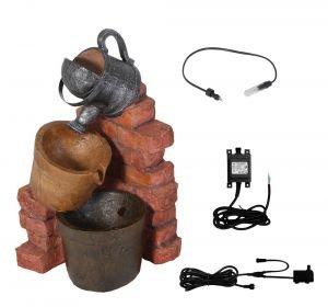 Gießkannen-Brunnen mit Halogenbeleuchtung - 4