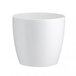 HERSTERA 09742022 Blumentopf Madeira Lux, Weiß, 22 x 22 x 20 cm - 1