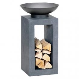 HOT Moderne Feuerschale Feuerkorb Feuerstelle aus Gussstein Ø 39,5cm H68,5 - 1