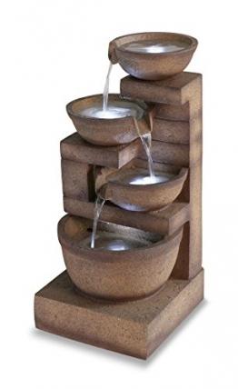 """Kaskadenbrunnen """"Kendal"""" mit LED-Beleuchtung 85,8cm - 1"""