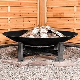 Köhko Sevilla Feuerschale Ø 790 mm Feuerstelle auf Edelstahl-Ständer und kunstvoll verzierten Eisenstreben 41007, 40 liters - 1