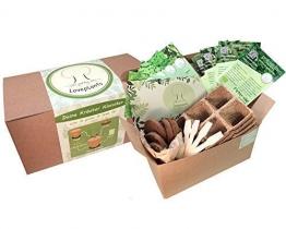 Kräuter Anzuchtset – Kräuter Pflanzset mit 4 Sorten Bio Kräuter Samen, perfektes Gechenk Set zu jedem Anlass, verpackt als Geschenk Box, ideales Geschenk für Frauen und Männer - 1
