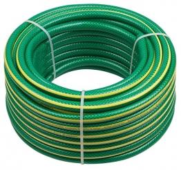 Meister Schlauch Kreuzgewebe, 12,7 mm (1/2 Zoll) - 40 m Länge - Elastisch - Abriebfest - Trittfest / Gartenschlauch aus Erst-PVC / Wasserschlauch / Gewebeschlauch UV-beständig für Draußen / 9920270 - 1