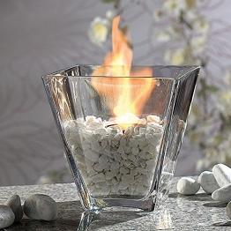 Monsterzeug Tischfeuer Bioethanol Deko Feuerschalen, Dekolicht Tischkamin, Ethanol Dekofeuer im Glas - 1
