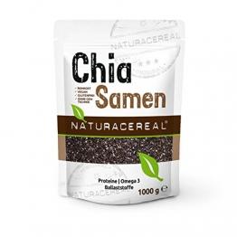Naturacereal Premium Chia Samen, in Deutschland geprüfte Qualität (1 x 1 kg) - 1
