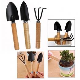 OFKPO 3 Stück Mini Gartenwerkzeug Set,Gartengeräte Garten Pflanze Werkzeug - 1