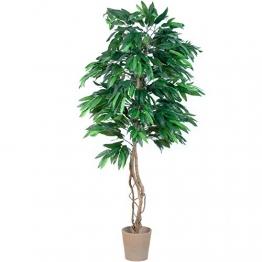 PLANTASIA® Mangobaum, Echtholzstamm, Kunstbaum, Kunstpflanze - 180 cm, Schadstoffgeprüft - 1