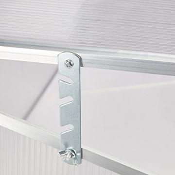 Relaxdays Frühbeet Alu, Stecksystem, lichtdurchlässig, UV-Schutz, Mini Gewächshaus, HxBxT: 100 x 50 x 50 cm, transparent - 3