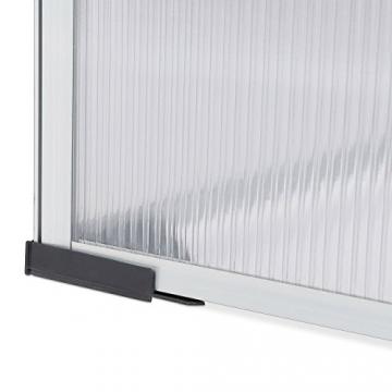 Relaxdays Frühbeet Alu, Stecksystem, lichtdurchlässig, UV-Schutz, Mini Gewächshaus, HxBxT: 100 x 50 x 50 cm, transparent - 4