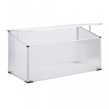 Relaxdays Frühbeet Alu, Stecksystem, lichtdurchlässig, UV-Schutz, Mini Gewächshaus, HxBxT: 100 x 50 x 50 cm, transparent - 1