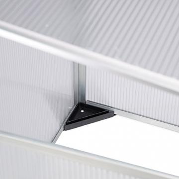 Relaxdays Frühbeet Alu, Stecksystem, lichtdurchlässig, UV-Schutz, Mini Gewächshaus, HxBxT: 100 x 50 x 50 cm, transparent - 5