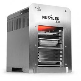 Rustler 800 Hochleistungsgrill | Oberhitze Gasgrill aus Edelstahl für Temperaturen bis zu 800° C mit Piezozünder | 800 Grad Grill | Inkl. Grillrost, Auffangschale und Warmhalteschale - 1
