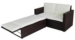SVITA Poly Rattan Lounge Gartenset Sofa Garnitur Polyrattan Gartenmöbel (Braun) - 1