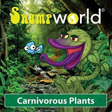 Swampworld Terrarium - 2-farbige Beleuchtung - 3 Fleischfressende Pflanzen - 7
