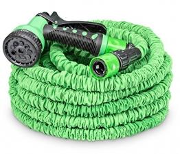 tillvex flexiSchlauch - flexibler Gartenschlauch 22.5m ausgedehnt, Testurteil GUT, Wasserschlauch flexibel, Gartenteichschlauch dehnbar - 1