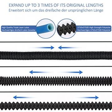 TRESKO® Flexibler Gartenschlauch   ausgedehnt 7,5m   Wasserschlauch flexibel mit 3-Fach Latexkern   dehnbarer flexiSchlauch   alle Verschraubungen aus hochwertigem Messing - 7