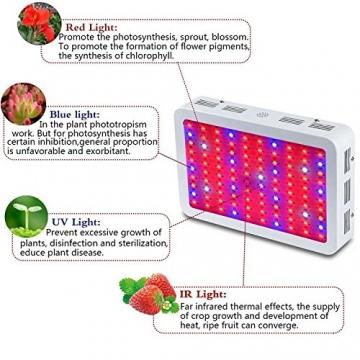 TXVSO 1200W LED-Pflanze wachsen Licht, volles Spektrum für Gewächshaus- und Innenwasserpflanzen-blühende Gemüse-wachsende Lampen weniger Hitze und größere Erträge - 4