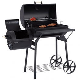 Ultranatura Smoker Grill Denver mit 2 Brennkammern, Barbecue Grillwagen zum Grillen mit direkter & indirekter Hitze, BBQ Station ca.119 x 66 x 135 cm - 1