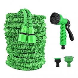 Vegena Flexibler Gartenschlauch, 100 FT 30m Flexischlauch Gartenschlauch Wasserschlauch Flexi Dehnbarer Wasserschlauch, Flexi Wonder Flexi Gartenschlauch mit 8 Funktion Garten Handbrause - 1