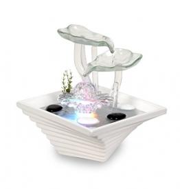WeiVa Feng Shui Keramik Glas -Zimmerbrunnen mit LED Beleuchtung 22171 - 1