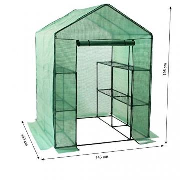 Zelsius Abdeckhaube für Folien Gewächshaus, Ersatzfolie Anzuchthaus, 195 x 143 x 143 cm, Cover für Folienhaus, Treibhaus, Tomatenhaus Gitterfolie - 3