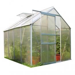 Zelsius Aluminium Gewächshaus für den Garten | inklusive Fundament | 250 x 190 cm | 4 mm Platten | Vielseitig nutzbar als Treibhaus, Tomatenhaus, Frühbeet und Pflanzenhaus - 1