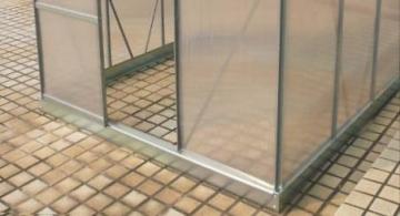 Zelsius Aluminium Gewächshaus für den Garten | inklusive Fundament | 250 x 190 cm | 4 mm Platten | Vielseitig nutzbar als Treibhaus, Tomatenhaus, Frühbeet und Pflanzenhaus - 5