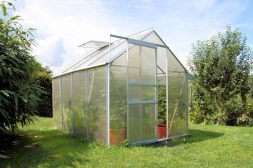 Zelsius Aluminium Gewächshaus für den Garten | inklusive Fundament | 250 x 190 cm | 4 mm Platten | Vielseitig nutzbar als Treibhaus, Tomatenhaus, Frühbeet und Pflanzenhaus - 6