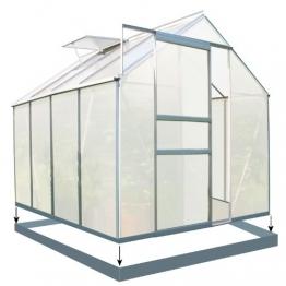 Zelsius Aluminium Gewächshaus für den Garten | inklusive Fundament | 250 x 190 cm | 6 mm Platten | Vielseitig nutzbar als Treibhaus, Tomatenhaus, Frühbeet und Pflanzenhaus - 1