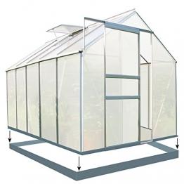Zelsius Aluminium Gewächshaus für den Garten | inklusive Fundament | 310 x 190 cm | 6 mm Platten | Vielseitig nutzbar als Treibhaus, Tomatenhaus, Frühbeet und Pflanzenhaus - 1